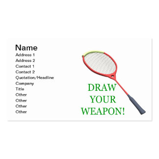 Draw Your Weapon Pack Of Standard Business Cards
