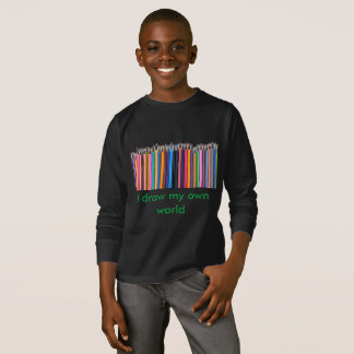 Draw your world! Kids long sleeve T-shirt