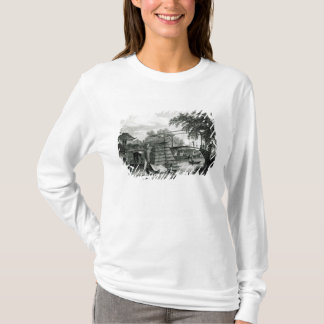 Drawbridge at Malacca, engraved by George Cooke T-Shirt
