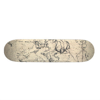 Drawing by Leonardo da Vinci 19.7 Cm Skateboard Deck