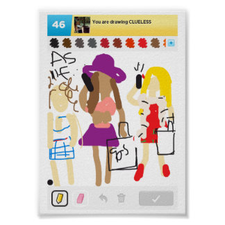 """Drawing """"Clueless"""" Poster"""