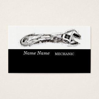 Drawing for Handyman Contractor Mechanic Plumber Business Card