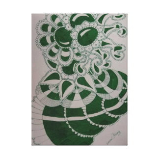 drawing green color canvas print