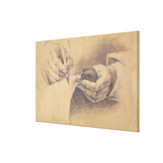 Drawing Hands, 1798 Canvas Print