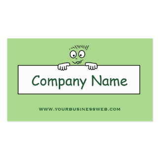 Drawing head. Green Pack Of Standard Business Cards