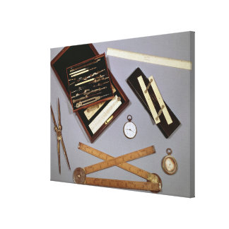 Drawing instruments used by Isambard Canvas Print