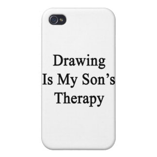 Drawing Is My Son's Therapy iPhone 4/4S Cases
