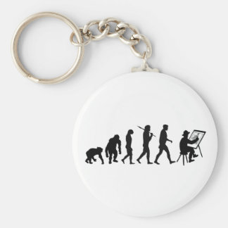 Drawing lovers Sketch artist Potraits Basic Round Button Key Ring