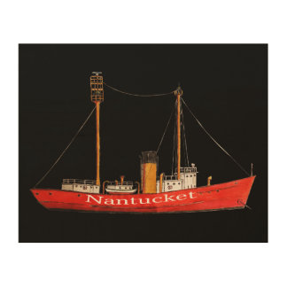 drawing nantucket lightship  on printed on wood wood canvases