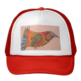 Drawing of a bird hat