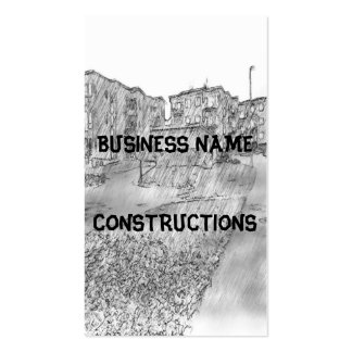 Drawing of apartment business card template