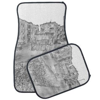 Drawing of apartment car mat
