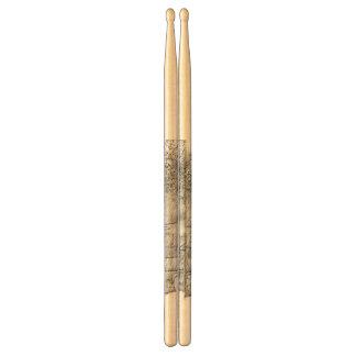 Drawing of apartment drum sticks