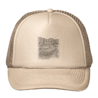 Drawing of apartment mesh hat