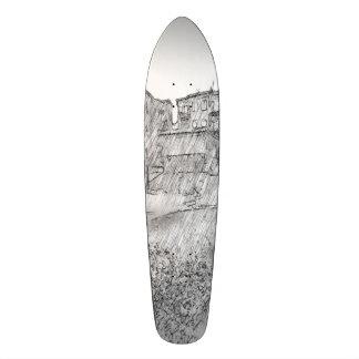 Drawing of apartment skateboard decks