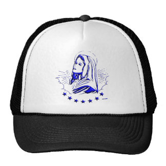 Drawing of Blessed Virgin Mary Cap