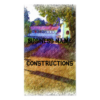 Drawing of Building Business Card Templates