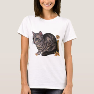 Drawing of Cat with Daffodils T-Shirt