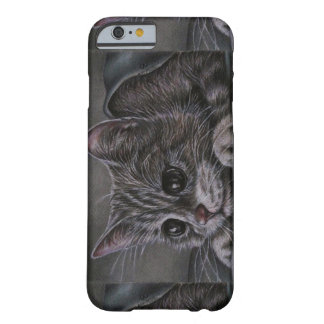 Drawing of Cute Kitten on Phone Case Barely There iPhone 6 Case