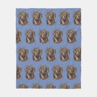 Drawing of Dachshund Dog Art and Paint on Blanket