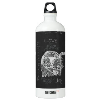 Drawing of Dog Drinking in Chalk SIGG Traveller 1.0L Water Bottle