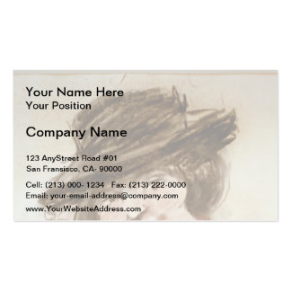 Drawing of Eliza  by George Luks Business Card Templates