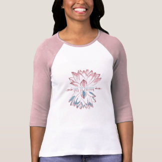 Drawing of flower, lotus, spiritual T-Shirt
