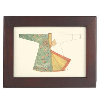 Drawing of Half-Finished Kimono Keepsake Box