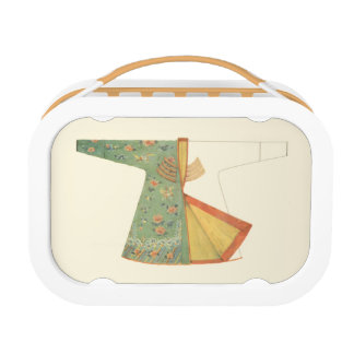 Drawing of Half-Finished Kimono Lunch Box