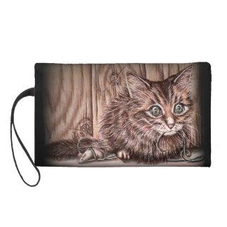 Drawing of Kitten Cute Pet Portrait Cat Wristlets