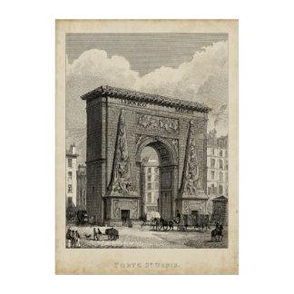 Drawing of Porte Saint-Denis Monument Acrylic Wall Art