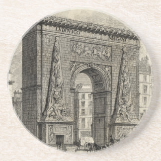 Drawing of Porte Saint-Denis Monument Coaster
