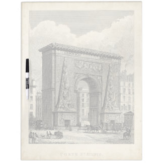 Drawing of Porte Saint-Denis Monument Dry Erase Board