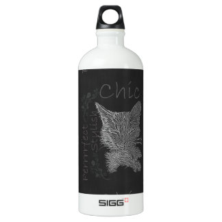 Drawing of Sleepy Cat in Chalk SIGG Traveller 1.0L Water Bottle
