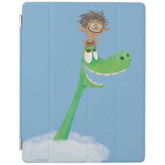 Drawing of Spot And Arlo In Clouds iPad Cover