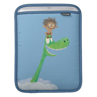 Drawing of Spot And Arlo In Clouds iPad Sleeve
