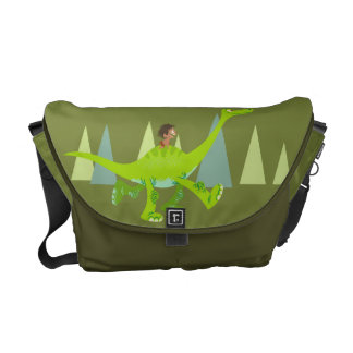 Drawing of Spot Riding Arlo Courier Bags