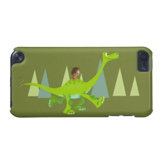 Drawing of Spot Riding Arlo iPod Touch (5th Generation) Cases