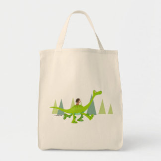 Drawing of Spot Riding Arlo Tote Bag
