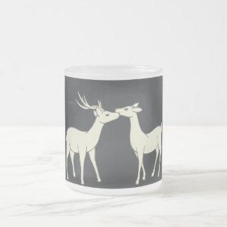 Drawing Of Sweet Deer Couple Mug