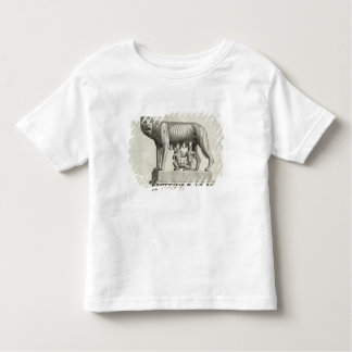 Drawing of the Etruscan bronze of the she-wolf suc Toddler T-Shirt