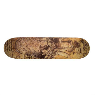 Drawing of the heart and its blood vessels custom skateboard