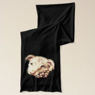 Drawing of Vibrant Pitbull on Scarf