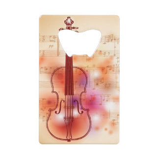 Drawing on watercolor background of violin