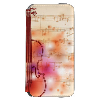 Drawing on watercolor background of violin incipio watson™ iPhone 6 wallet case