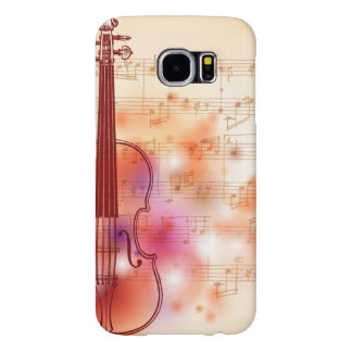 Drawing on watercolor background of violin samsung galaxy s6 cases