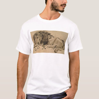 Drawing or a lion by Rembrandt van Rijn T-Shirt