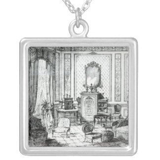 Drawing Room in the Louis Seize Style Silver Plated Necklace