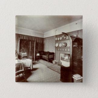 Drawing room, Kelmscott House, London, 1896 (photo 15 Cm Square Badge