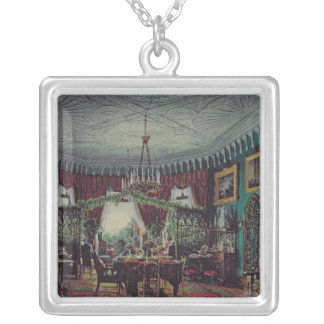 Drawing Room of Empress Alexandra Silver Plated Necklace